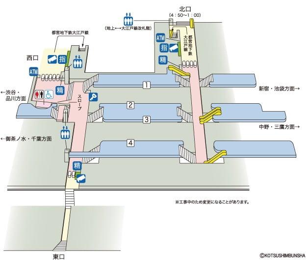 明治神宮へのアクセス(行き方):「JR代々木駅・都営地下鉄:代々木駅」から明治神宮・本殿まで01