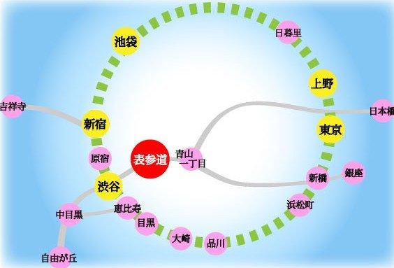 東京・原宿 方面から明治神宮までの地図(周辺マップ)PDF付き